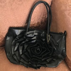 Big Buddha Faux Snakeskin Rose Tote
